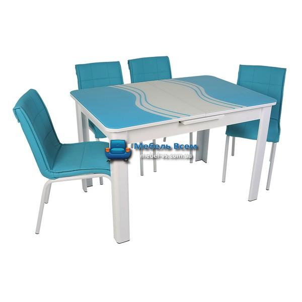 Стол + 4 стула Hamza Takim HT-239-8 80х120-150