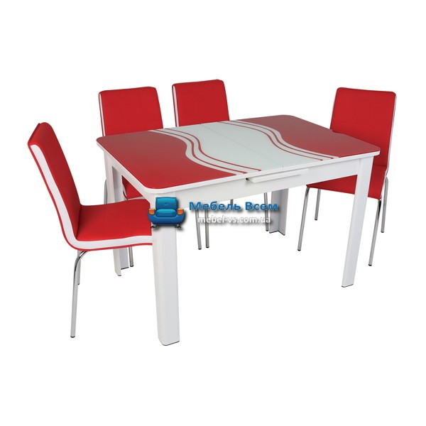Стол + 4 стула Hamza Takim HT-239 80х120-150