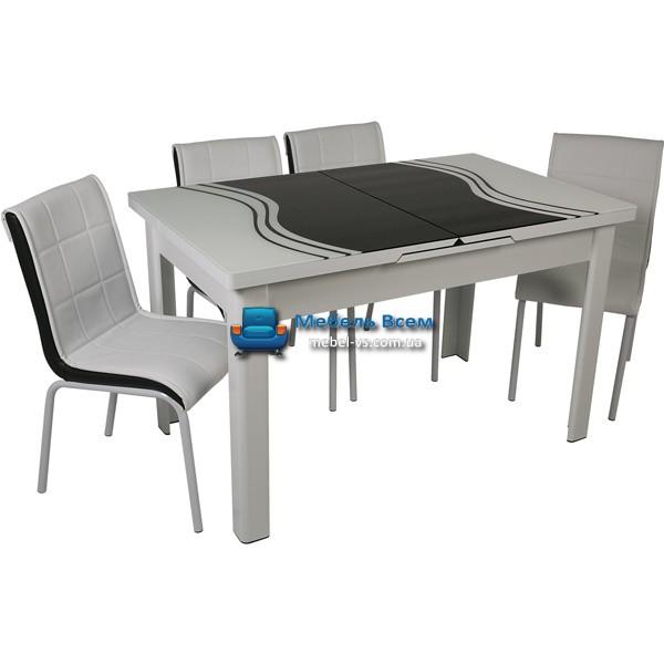 Стол + 4 стула Hamza Takim HT-241-1 80х130-165