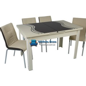 Стол + 4 стула Hamza Takim HT-241-4 80х130-165