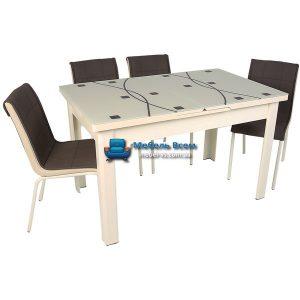 Стол + 4 стула Hamza Takim HT-241-5 80х130-165