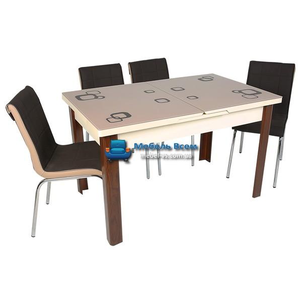 Стол + 4 стула Hamza Takim HT-241-7 80х130-165