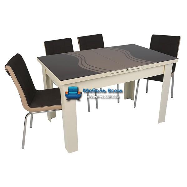 Стол + 4 стула Hamza Takim HT-334-14 80х130-165