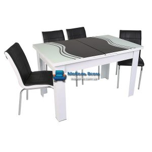 Стол + 4 стула Hamza Takim HT-334-7 80х130-165