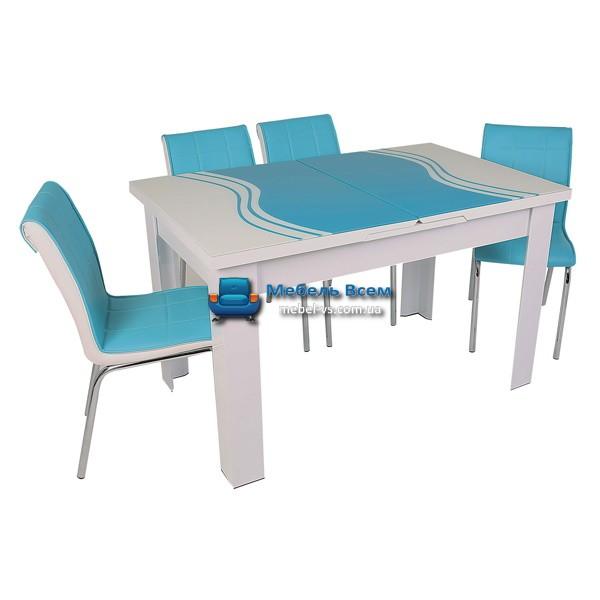 Стол + 4 стула Hamza Takim HT-334-8 80х130-165