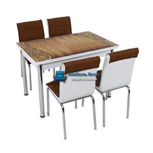 Стол + 4 стула Лотос SK CB-034 70x110-170