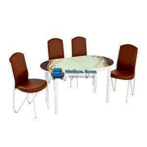 Стол + 4 стула Лотос NK ELIPS-015 75x130-160