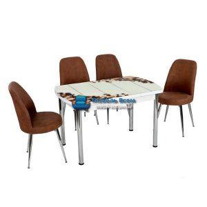 Стол + 4 стула Лотос NK OCB-006 75x120-180