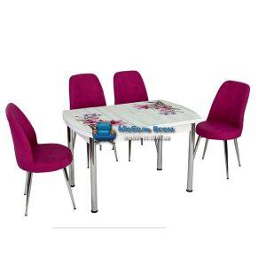 Стол + 4 стула Лотос NK OCB-007 75x120-180