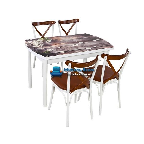 Стол + 4 стула Лотос NK OCB-021 75x120-180