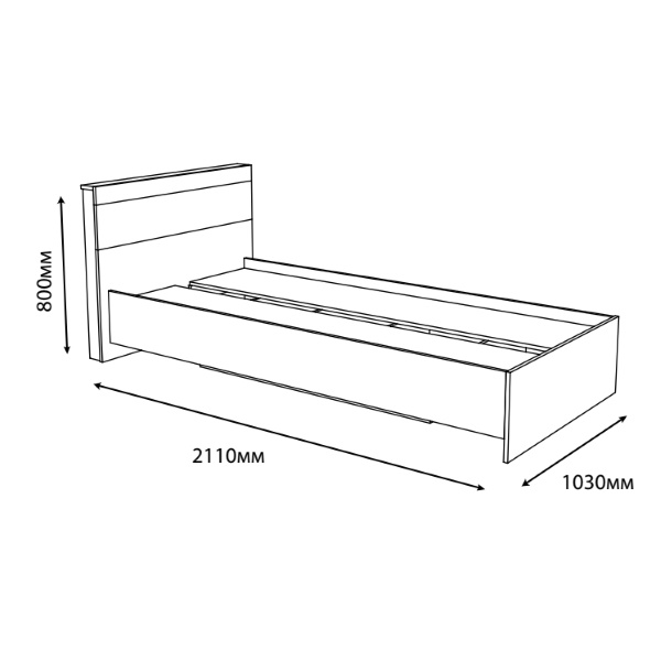 Кровать Соната 900 (90х200) Эверест