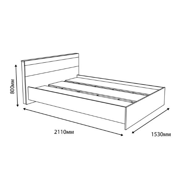 Кровать Соната 1400 (140х200) Эверест схема