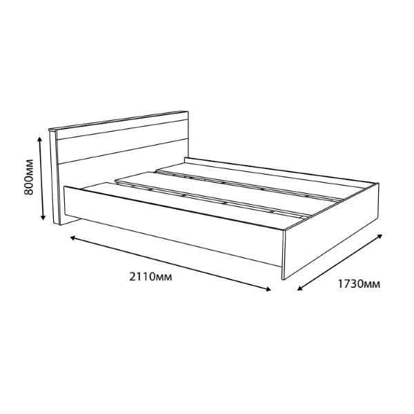 Кровать Соната 1600 (160х200) Эверест схема