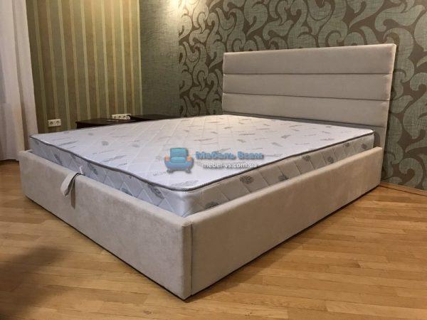 Двухспальная мягкая кровать с подъёмным механизмом МК Лайн 160×200
