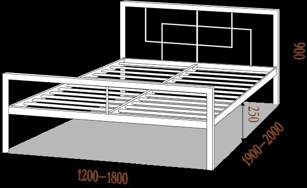 Схема Квадро кровать