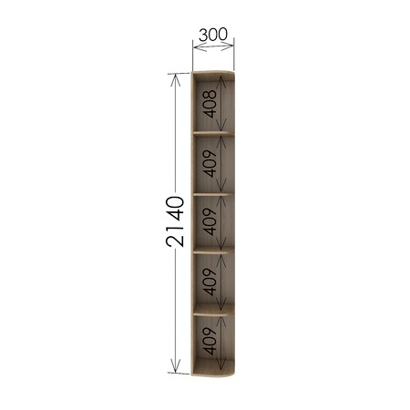 Консоль прямая 45 для шкафа Garant высота 220см