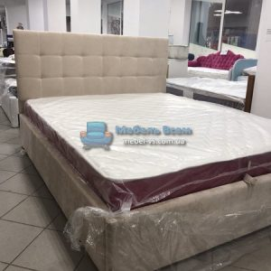 Двухспальная мягкая кровать с подъёмным механизмом МК Плейд 160x200