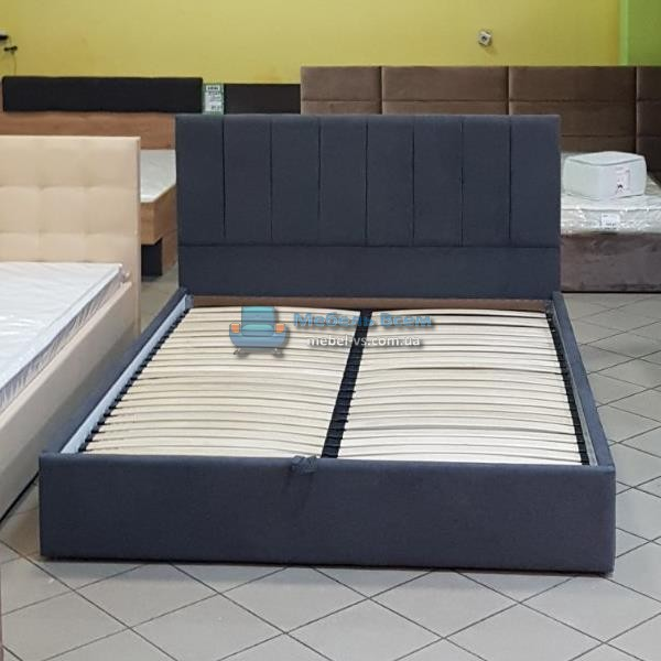 Двухспальная мягкая кровать с подъёмным механизмом МК Лайн-2 160×200