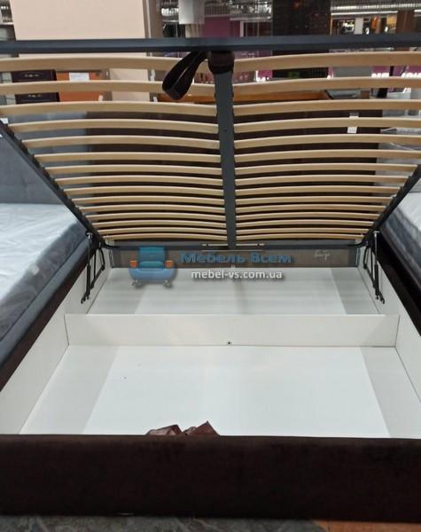 Двухспальная мягкая кровать с подъёмным механизмом МК Мия
